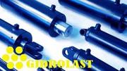 Гидроцилиндры телескопические,  хонингованные трубы,  штока хромирован